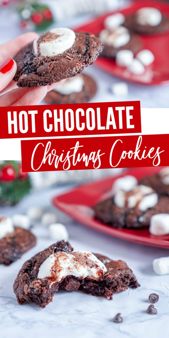 Cocoa Christmas Cookies Easy Hot Chocolate Cocoa Cookies for Christmas Easy Christmas Cookies for Cookie Exchanges or gifts for your friends neighbors and coworkers I lov...