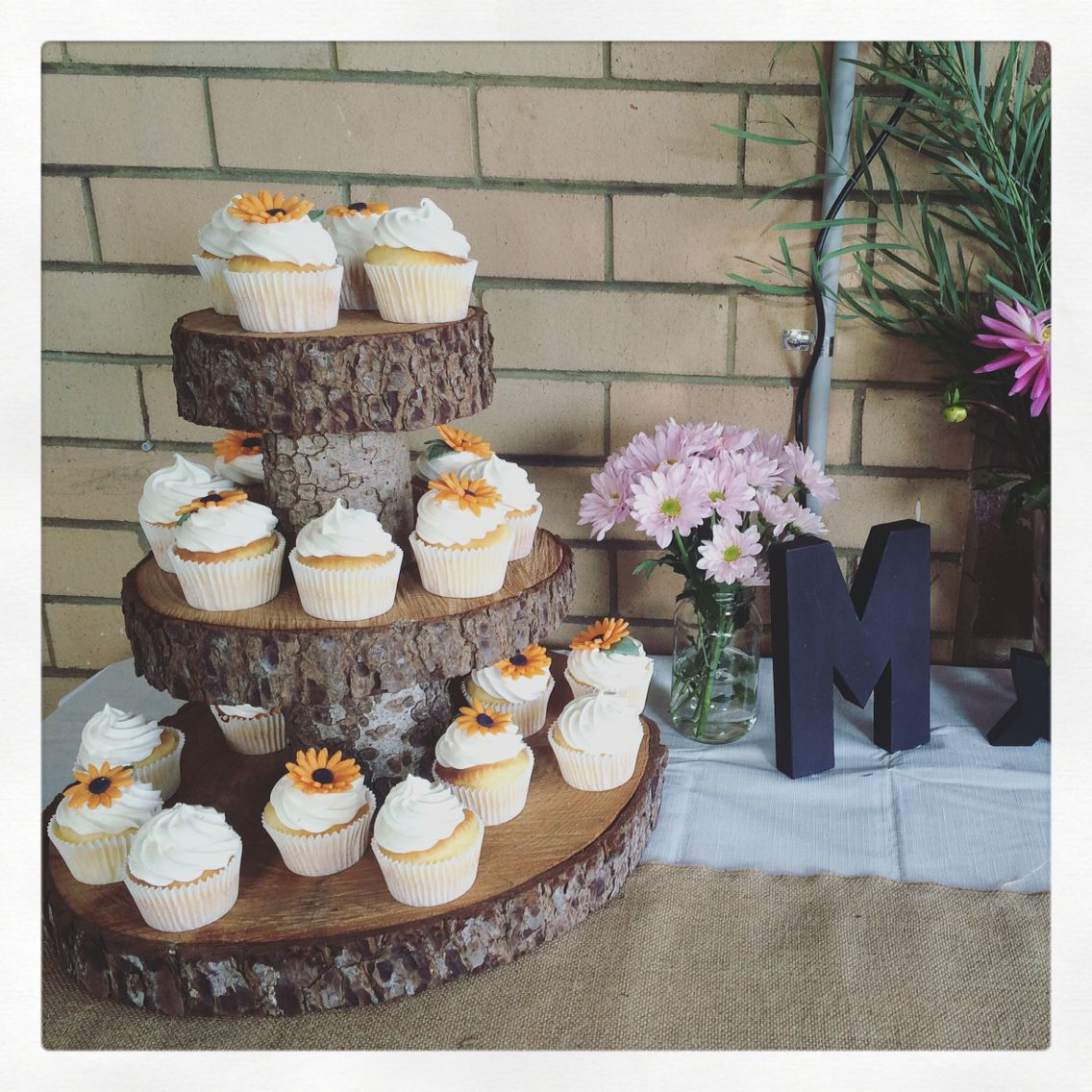 Engagement party cupcakes • polished rustic