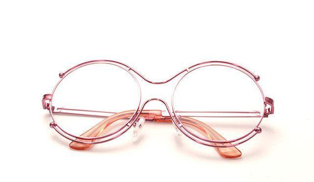 Retro Kühlschrank Yoga : Rfolve pink oversized round circle glasses frame women s retro