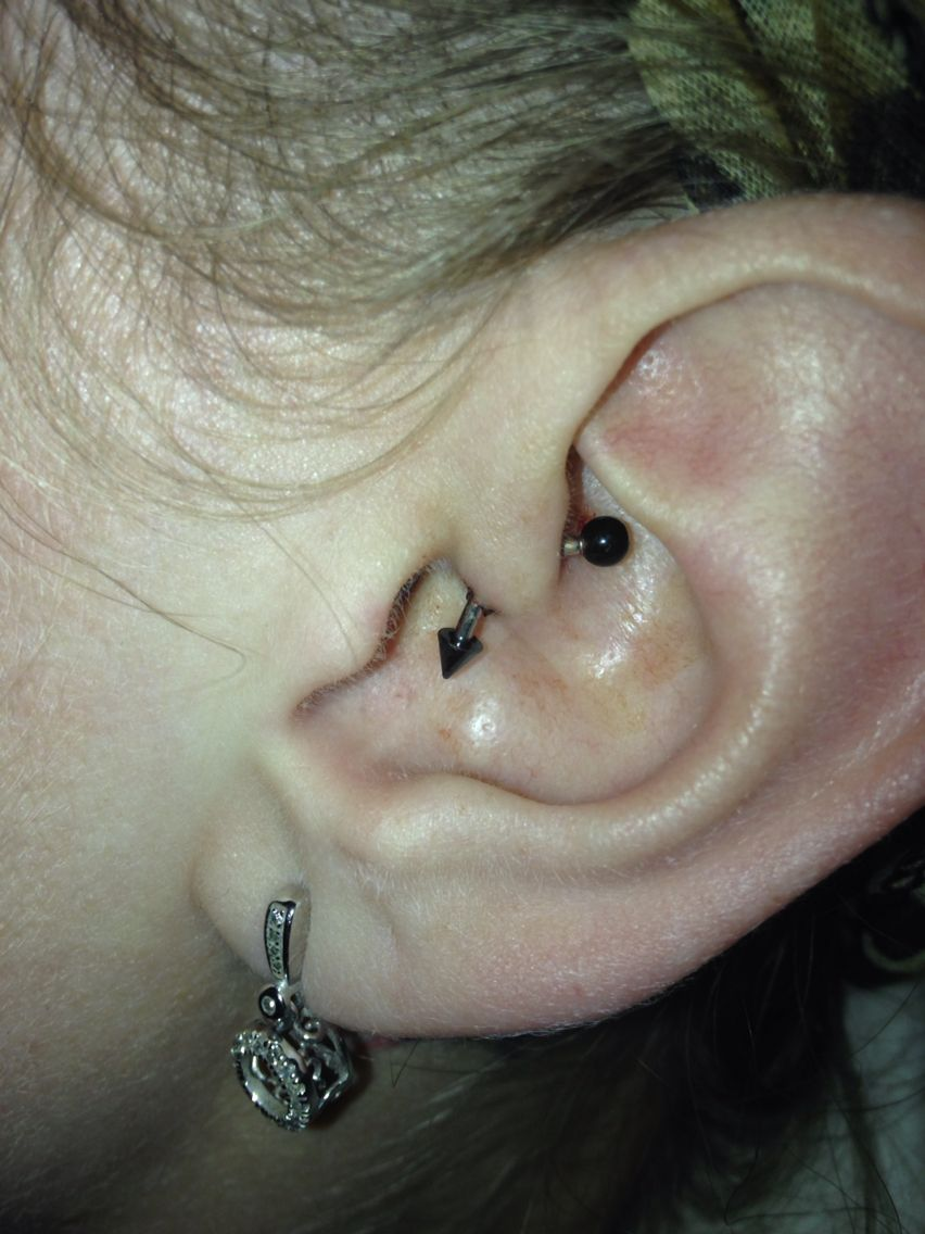 Body piercing jewelry  Daithe piercing Suppose to help get rid of migraines  Daith