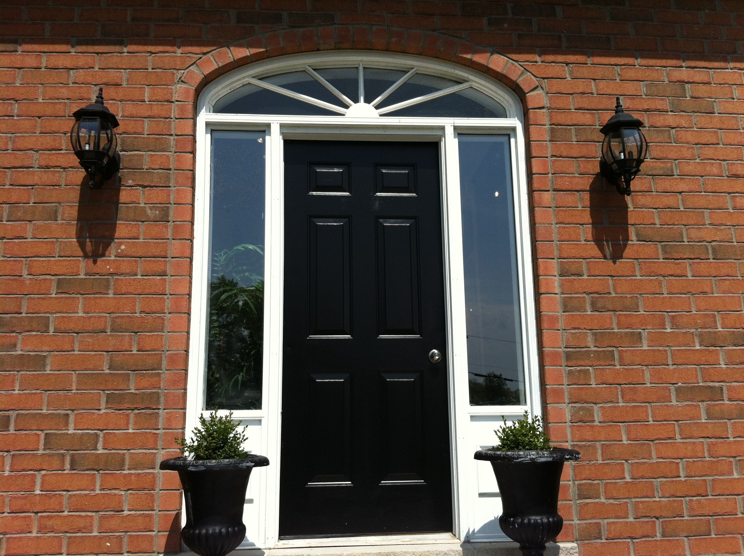 Modern front doors black - Fantastic Modern Front Door And Exterior Ideas Outstanding Black Wooden 6 Panel Single Modern Front