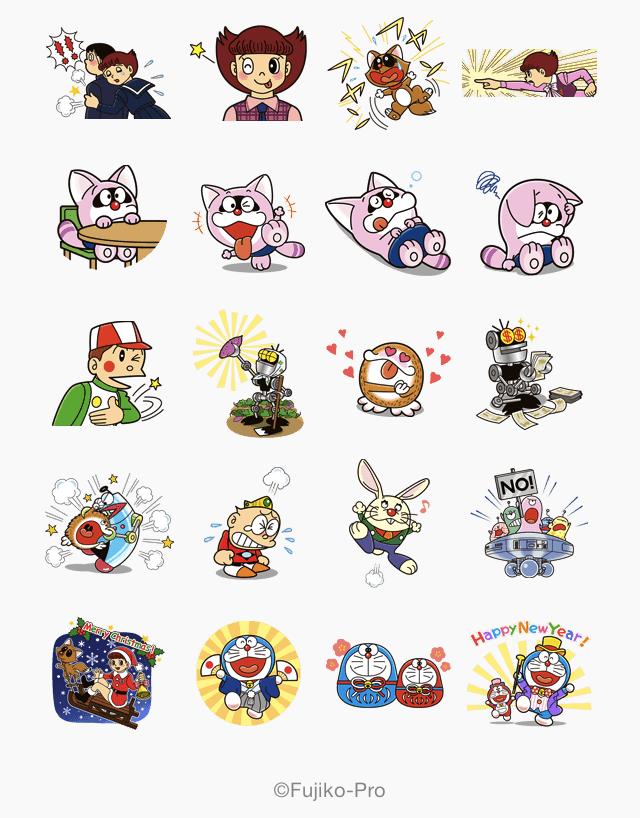line released the new sticker of fujiko f fujio s new sticker doraemon design art