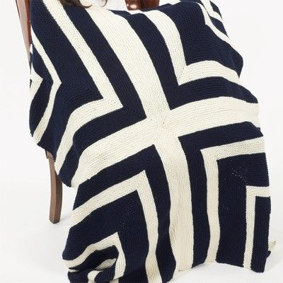 Plymouth Yarn F220 Encore Stadium Blanket Free Knitting Projects