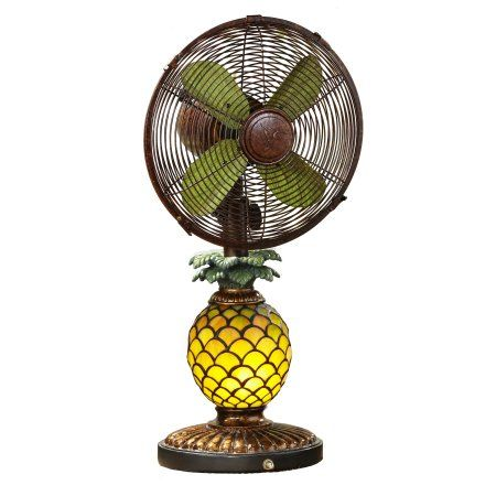 Decobreeze Oscillating Table Fan And Tiffany Style Table Lamp 3