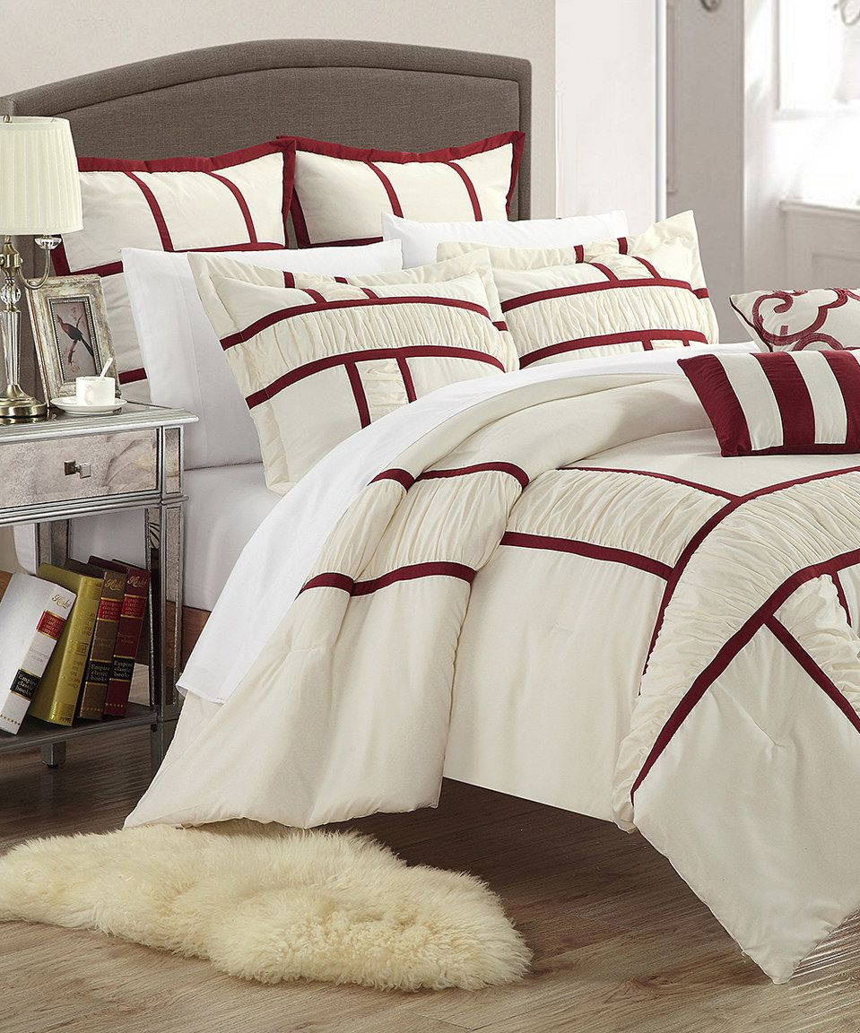 Red Tuscan Comforter Set by Chic Home Design #zulily #zulilyfinds ...
