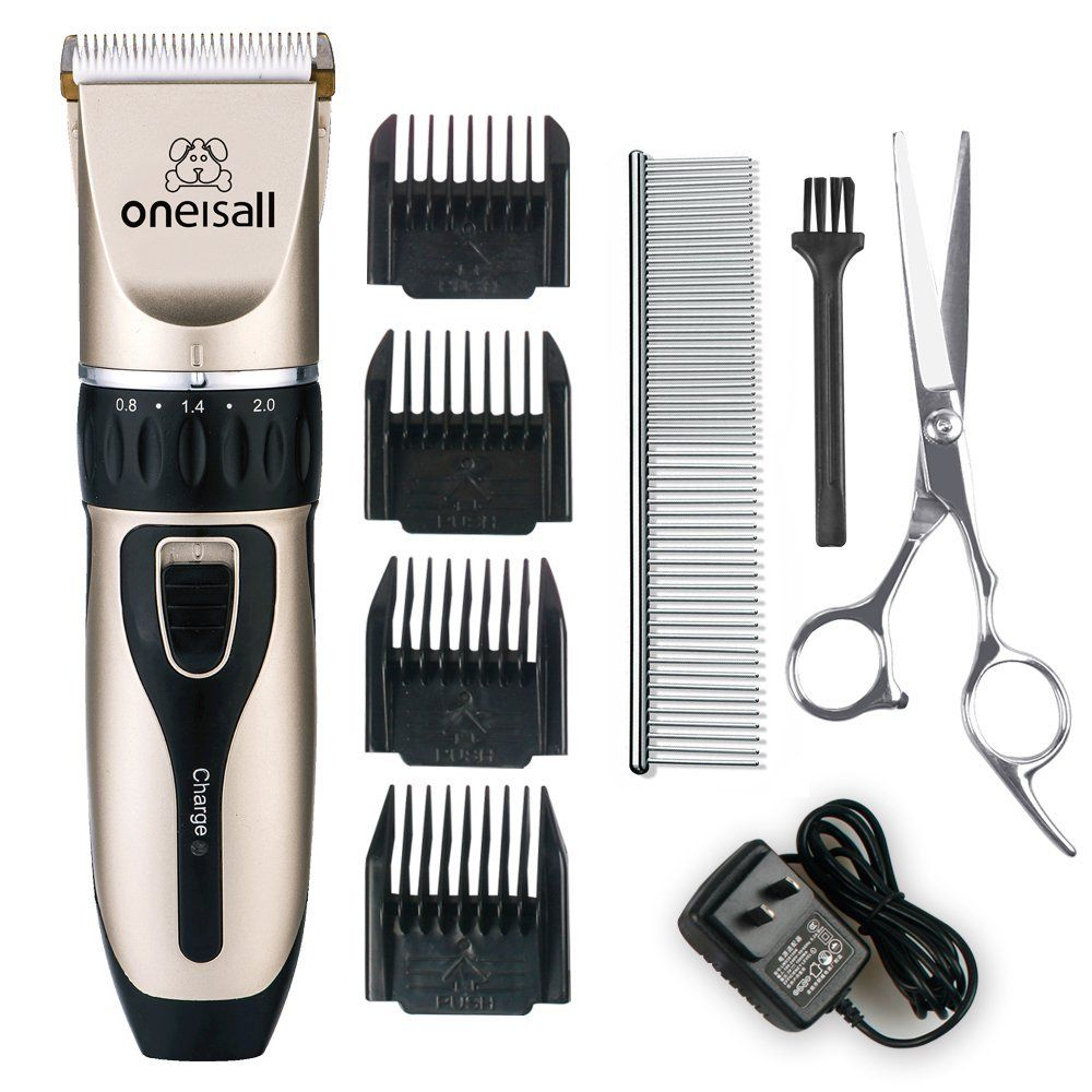 Oneisall Professional Rechargeable Cordless Electric Pet Grooming Trimming Clipper Kits For Dogs Cats Read Dog Grooming Business Dog Clippers Pet Grooming