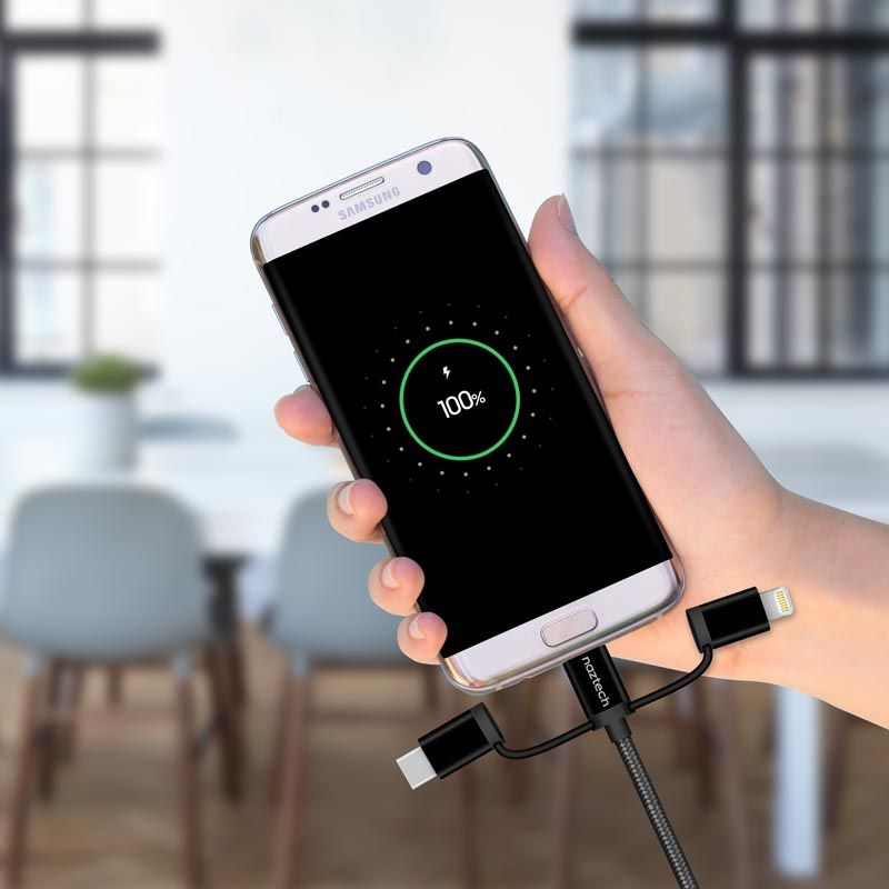 3in1 braided cable transfer data and charge all your