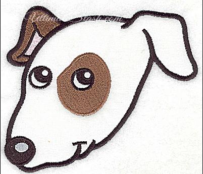 Devoted dog A applique
