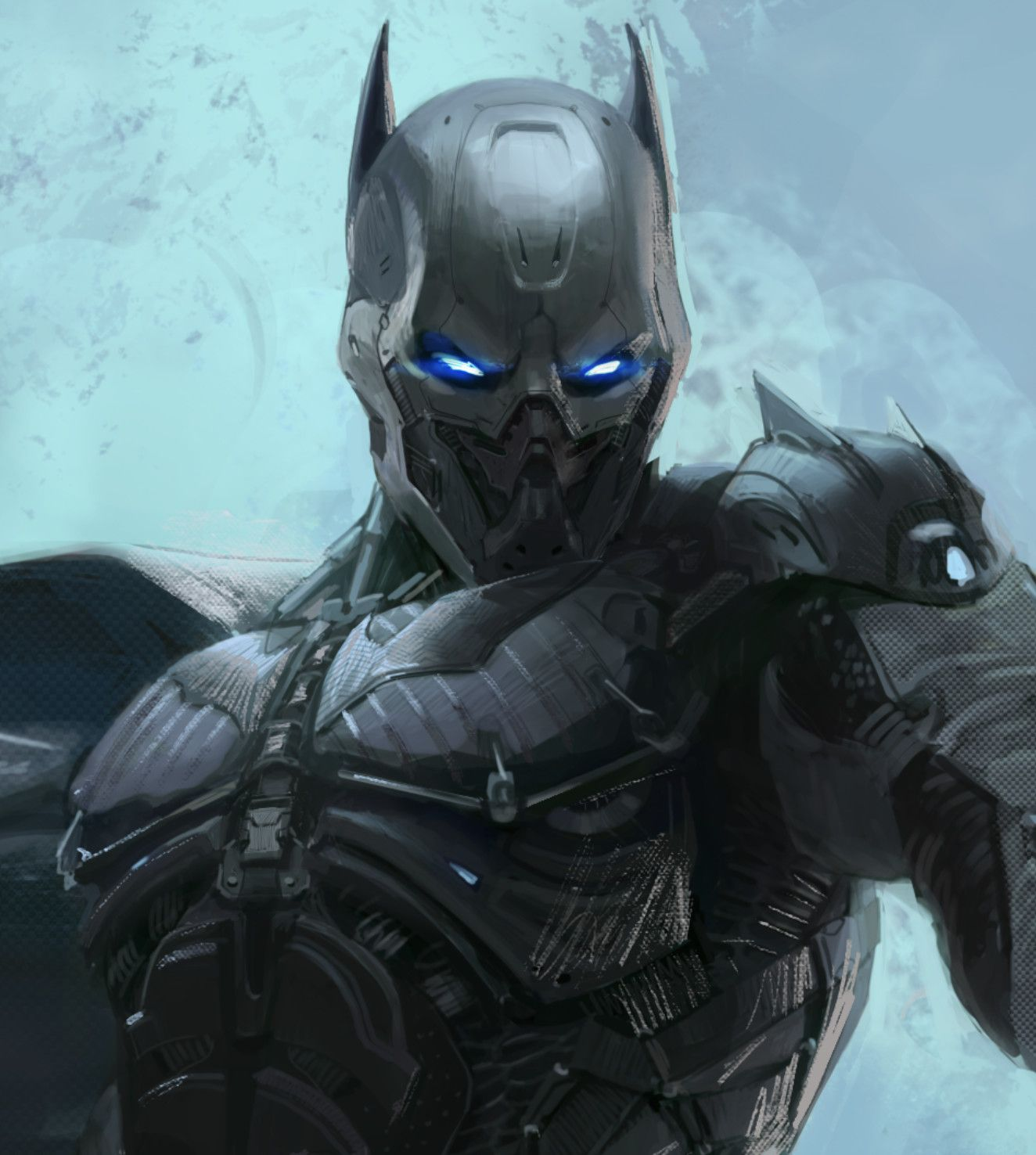 Batman redeign, Daeyoon Huh on ArtStation at https://www.artstation.com/artwork/DzR5e