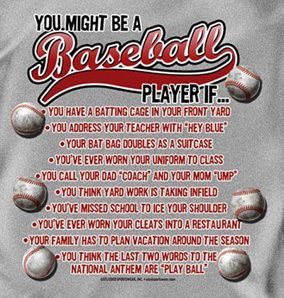 Photo of Coed Sportswear Baseball T-Shirt: You Might Be A Baseball Player