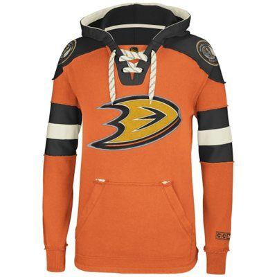 84996f06c Reebok Anaheim Ducks CCM Pullover Hoodie - Orange My  NHL Wish List Sweeps