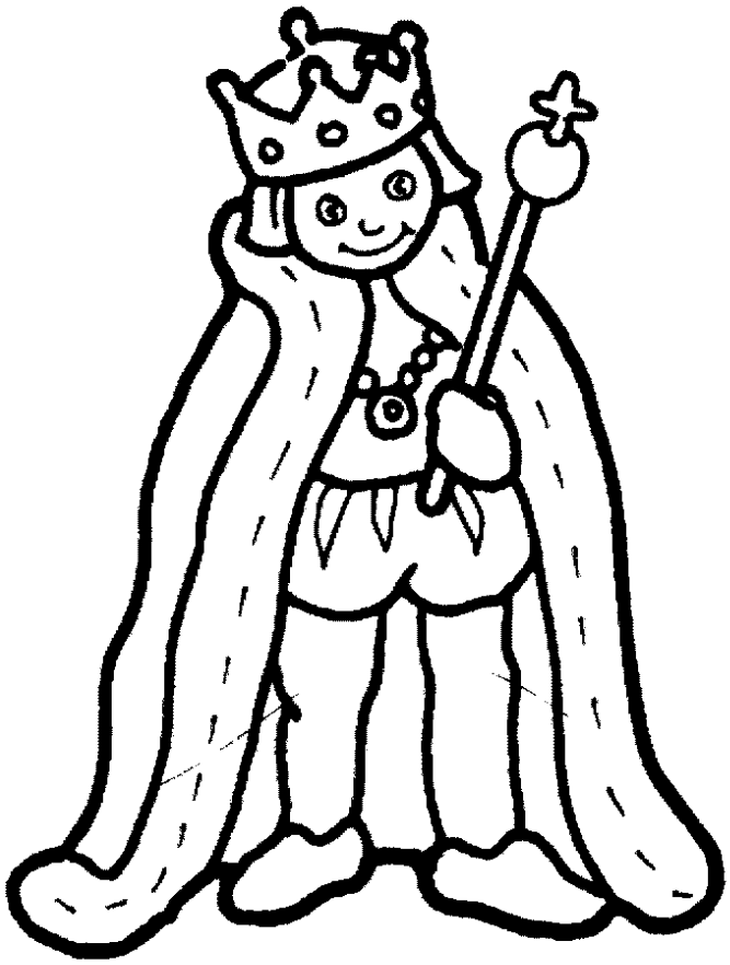 A Cute King For Painting King Drawing Coloring Pages Queen Drawing