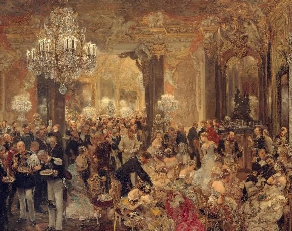 Adolph Menzel   ( 1815-1905 ) 'The Dinner at the Ball'    #art