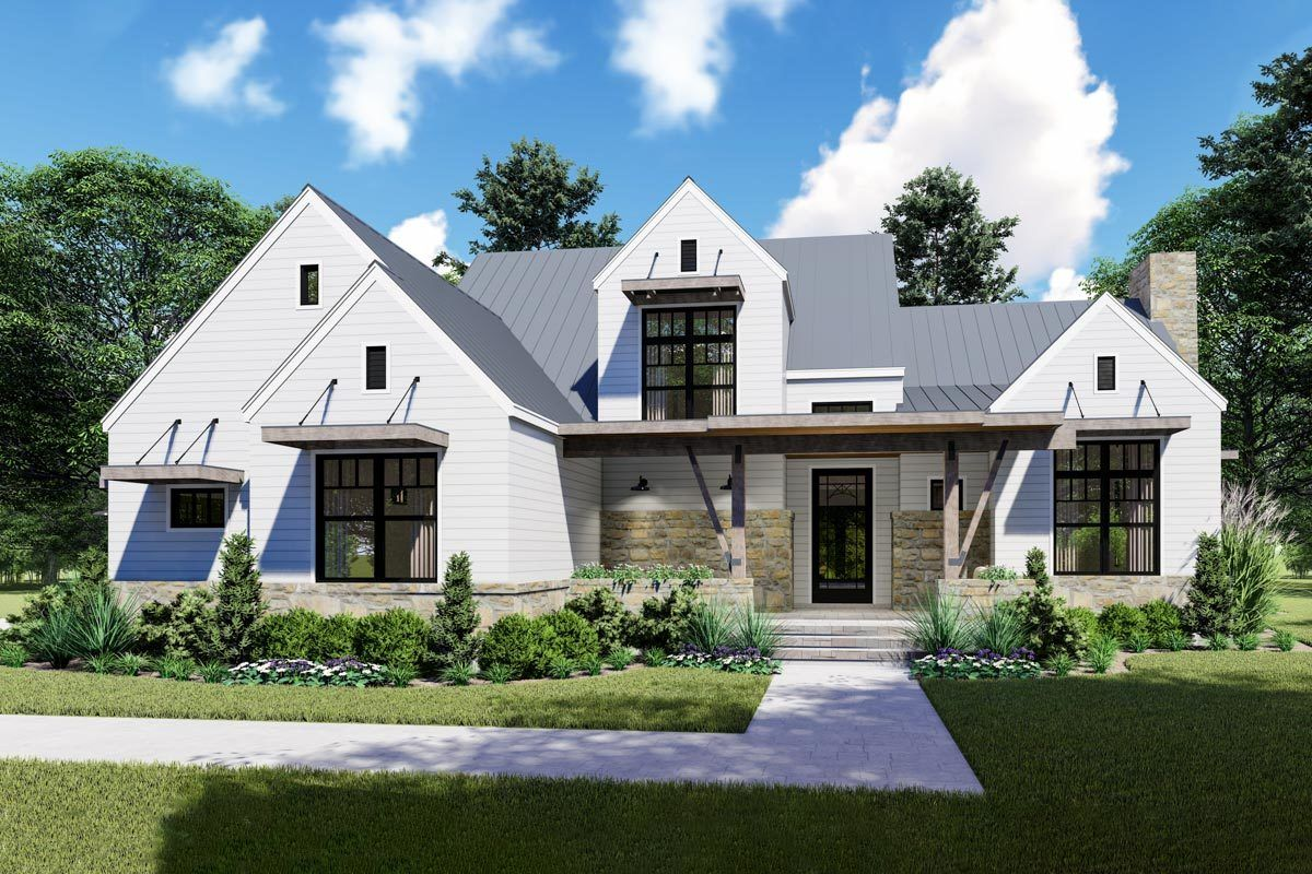 Saraland Houses: Remarkable 4-Bed Modern Farmhouse With First-Floor Master