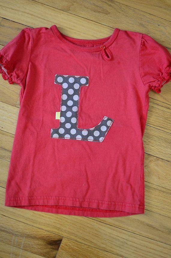 Kids Letter/Initial Tshirt by SoAnnieBanannie on Etsy, $15.00
