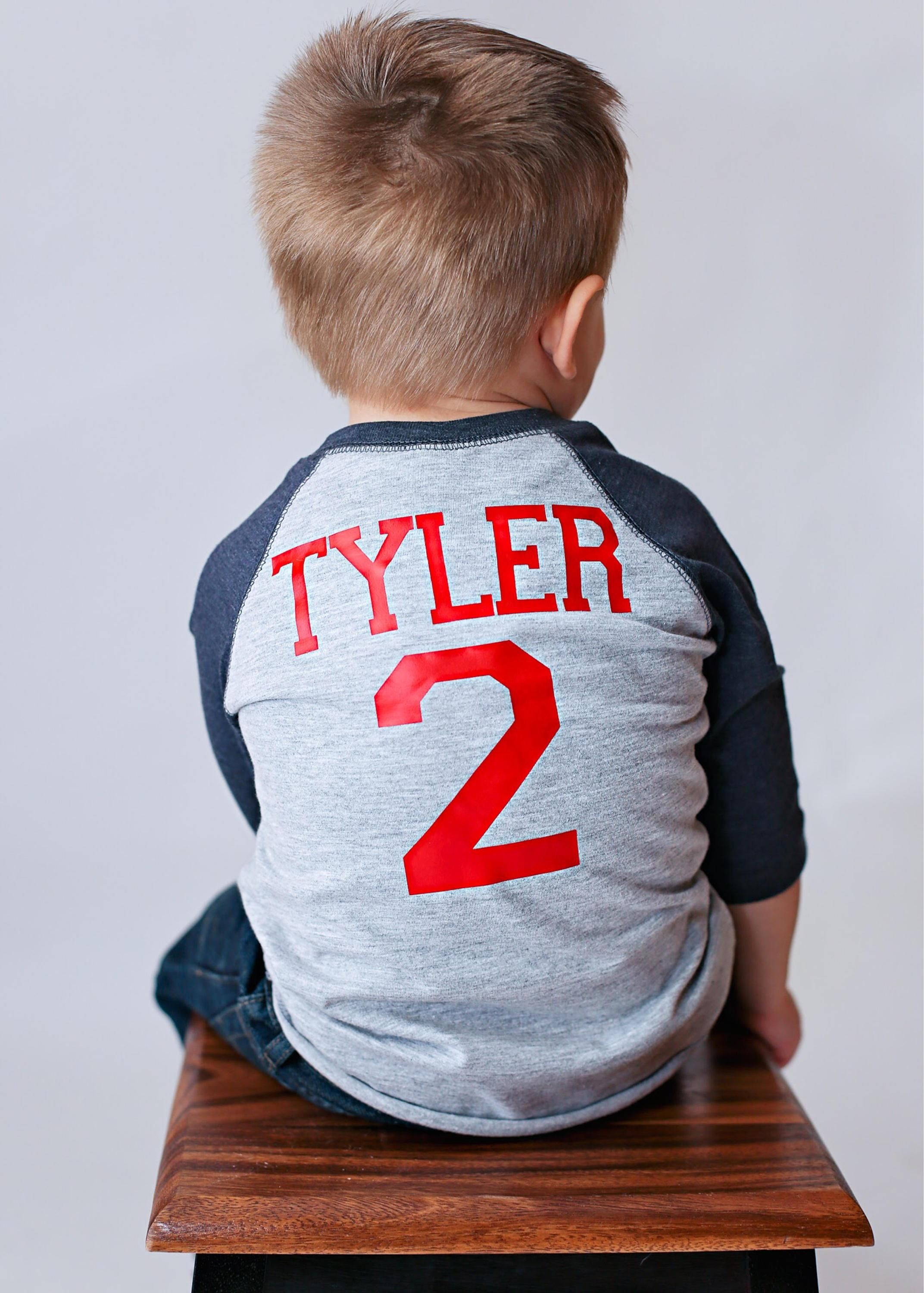 This Is A Personalized 2nd Birthday Baseball Shirt The Pictured Perfect For But Can Be Customized To ANY Age Or Name