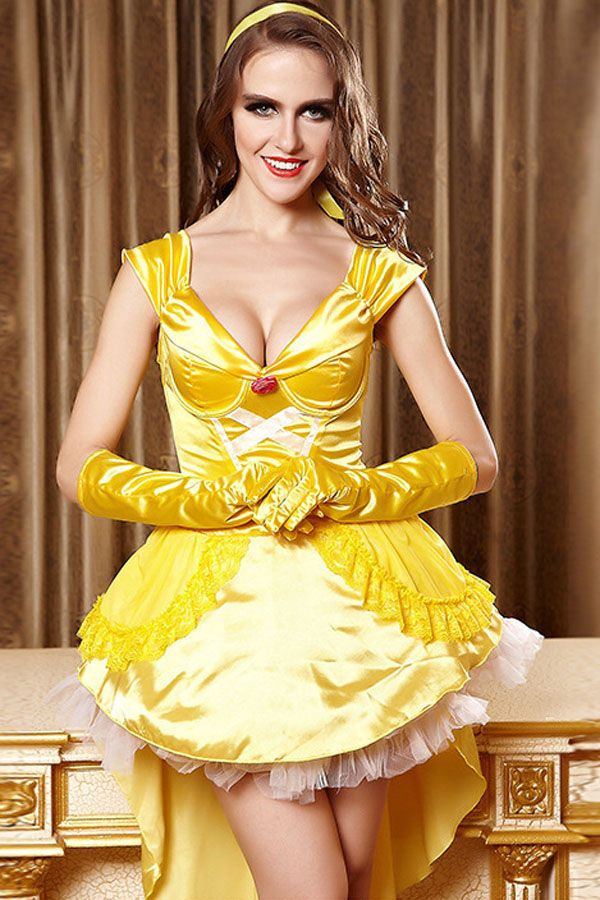 Beauty and the Beast Princess Belle Yellow Satin Evening