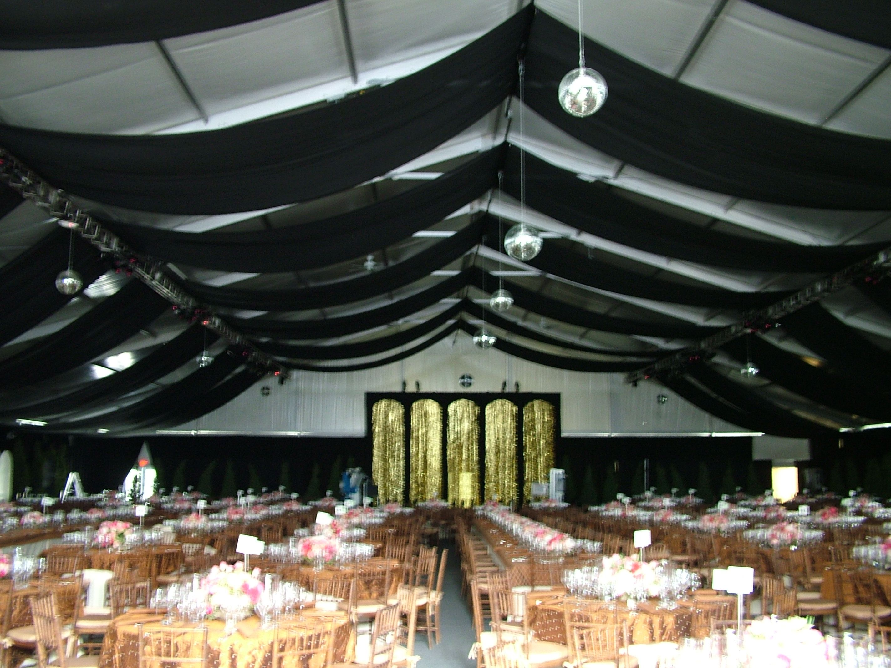 Black Ceiling treatment for a venue