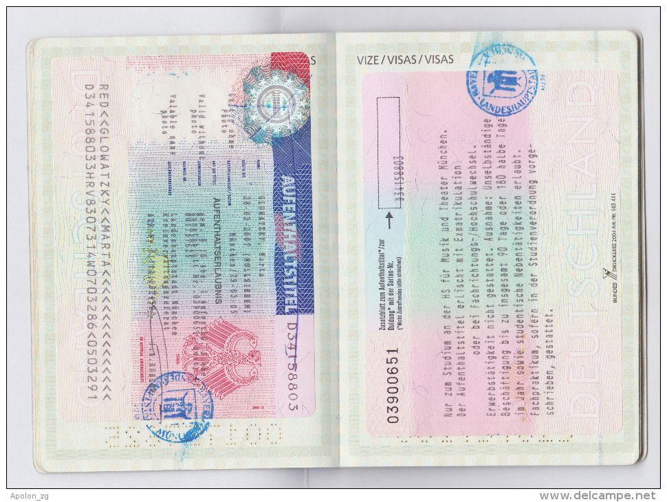 Expired Croatia Passport Visa Of Germany 2x Look At Pics Croatia Germany Visa