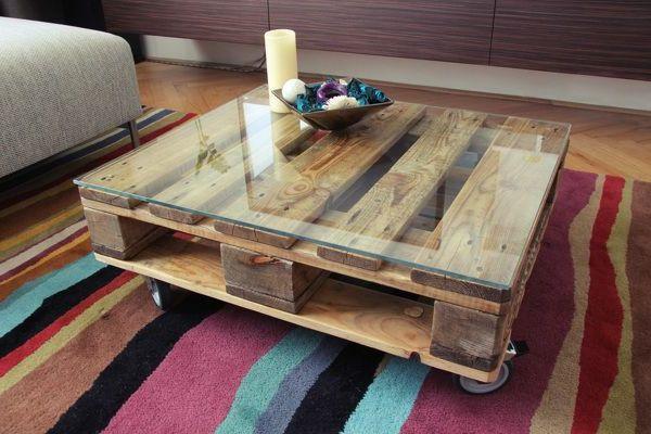 europaletten - inspiration für das innendesign | palette ... - Tisch Für Wohnzimmer