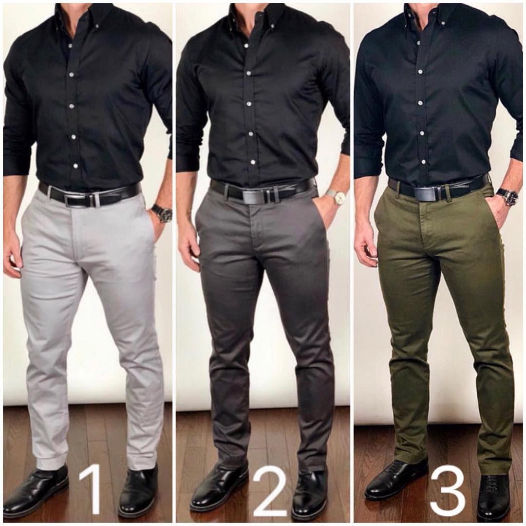 La Imagen Puede Contener Una O Varias Personas Y Personas De Pie Mens Fashion Dress Shirts Black Shirt Outfit Men Shirt Outfit Men [ 1080 x 1080 Pixel ]