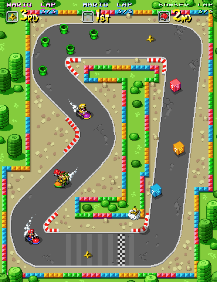 The Original Mario Kart Tried To Find This For The Snes But