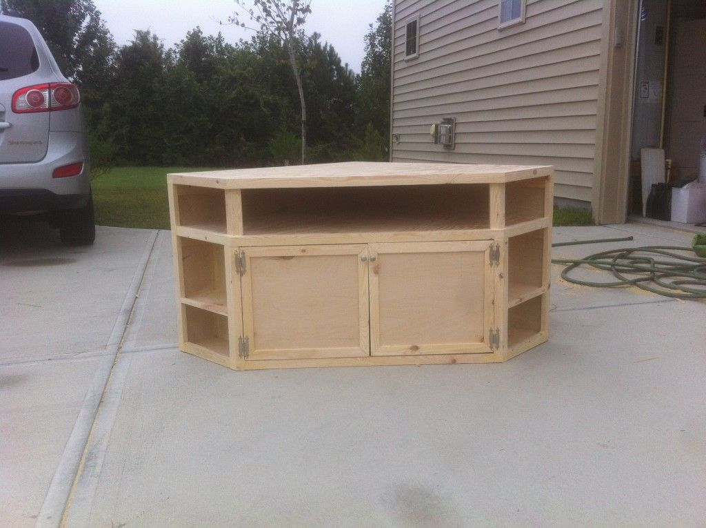 How To Build Your Own Diy Corner Tv Stand Diy Tv Stand Corner