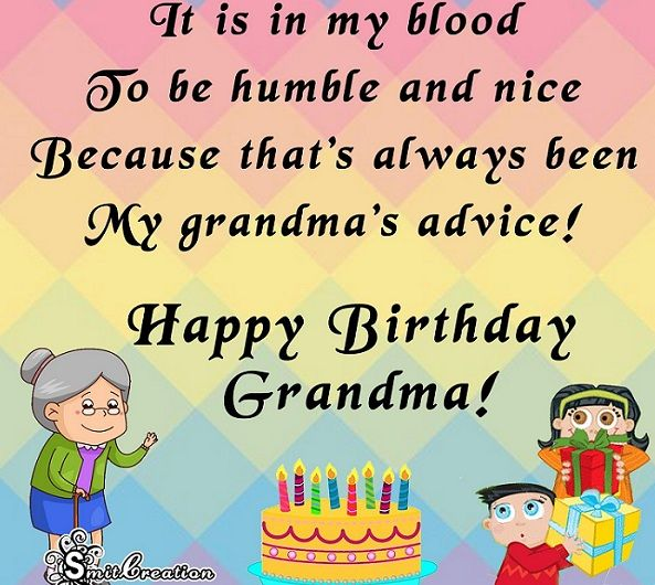 Happy Birthday Wishes For Grandma 2018.