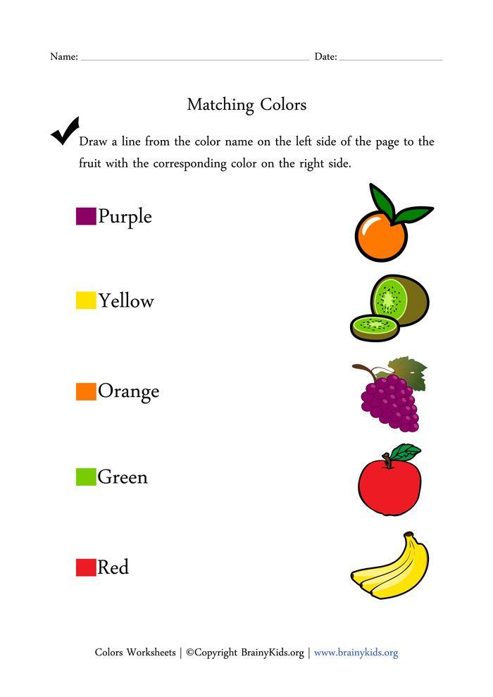 English worksheets: Color Words Matching Worksheet