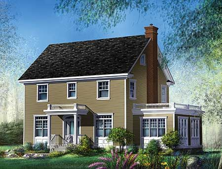 Plan 80606pm Two And A Half Story Colonial House Plan Colonial House Plans Colonial House House Plans