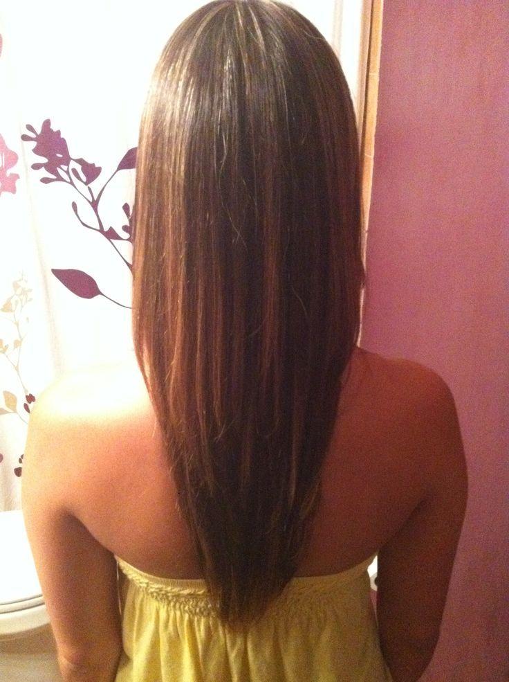 Layered V Cut Medium Hair Front View 4