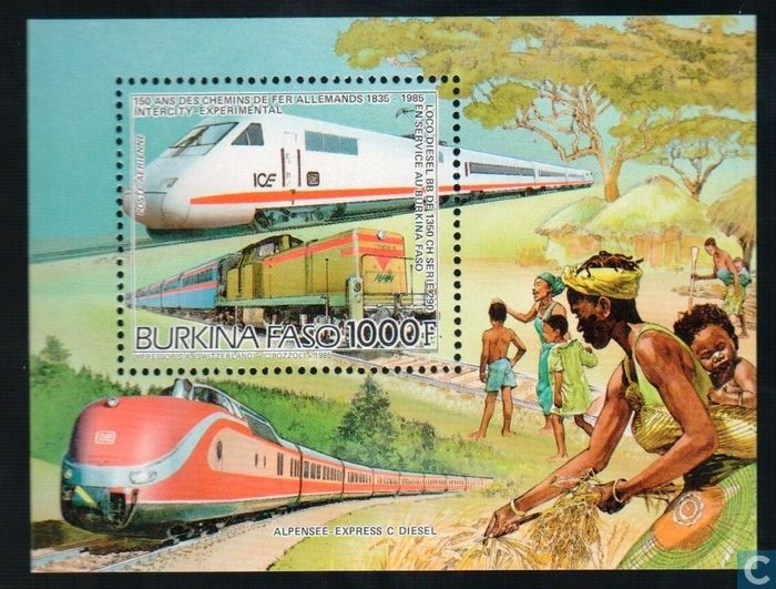 Postage Stamps - Burkina Faso [BFA] - Railways