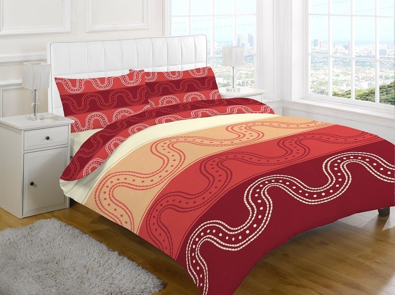 Material 50 Cotton 50 Polyester Easy Care Duvet Cover Sets Machine Washable At 30 C Can Be Tumble Dried Red Duvet Cover Red Duvet Green Duvet Covers