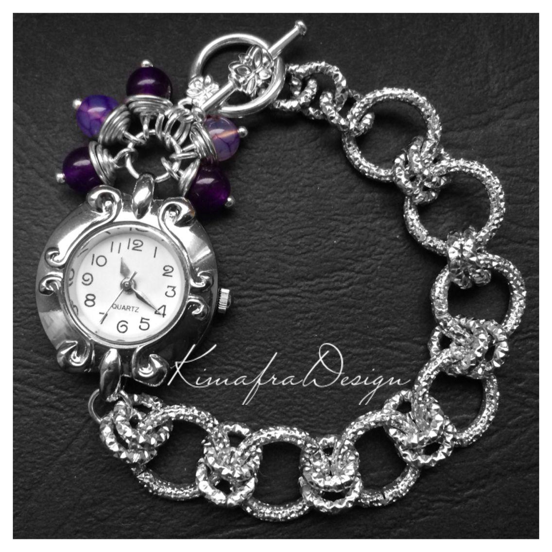 Orologio gioiello con pietre di Ametista