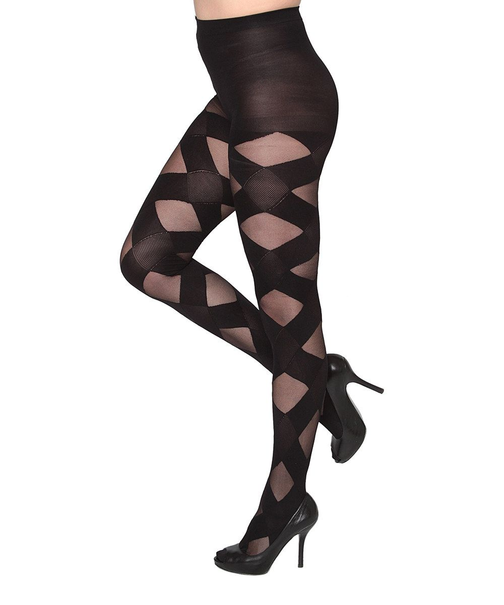 405f77198 This Black Sheer Thick Crisscross Tights - Women   Plus by Isadora is  perfect!  zulilyfinds