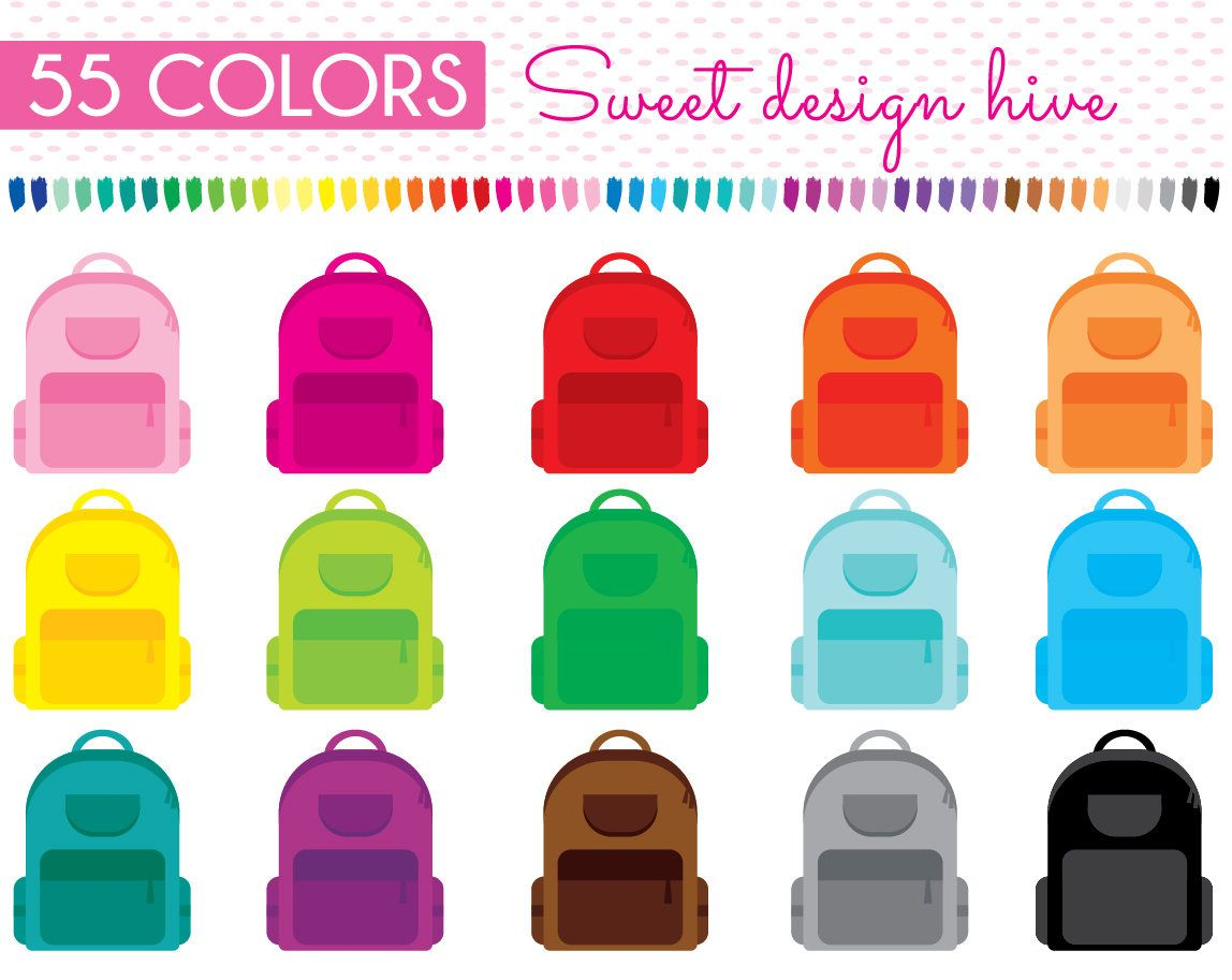 School Bag Clipart Backpack Clipart Bag Clipart Back To Etsy In 2021 School Bags Planner Stickers School Bags For Girls
