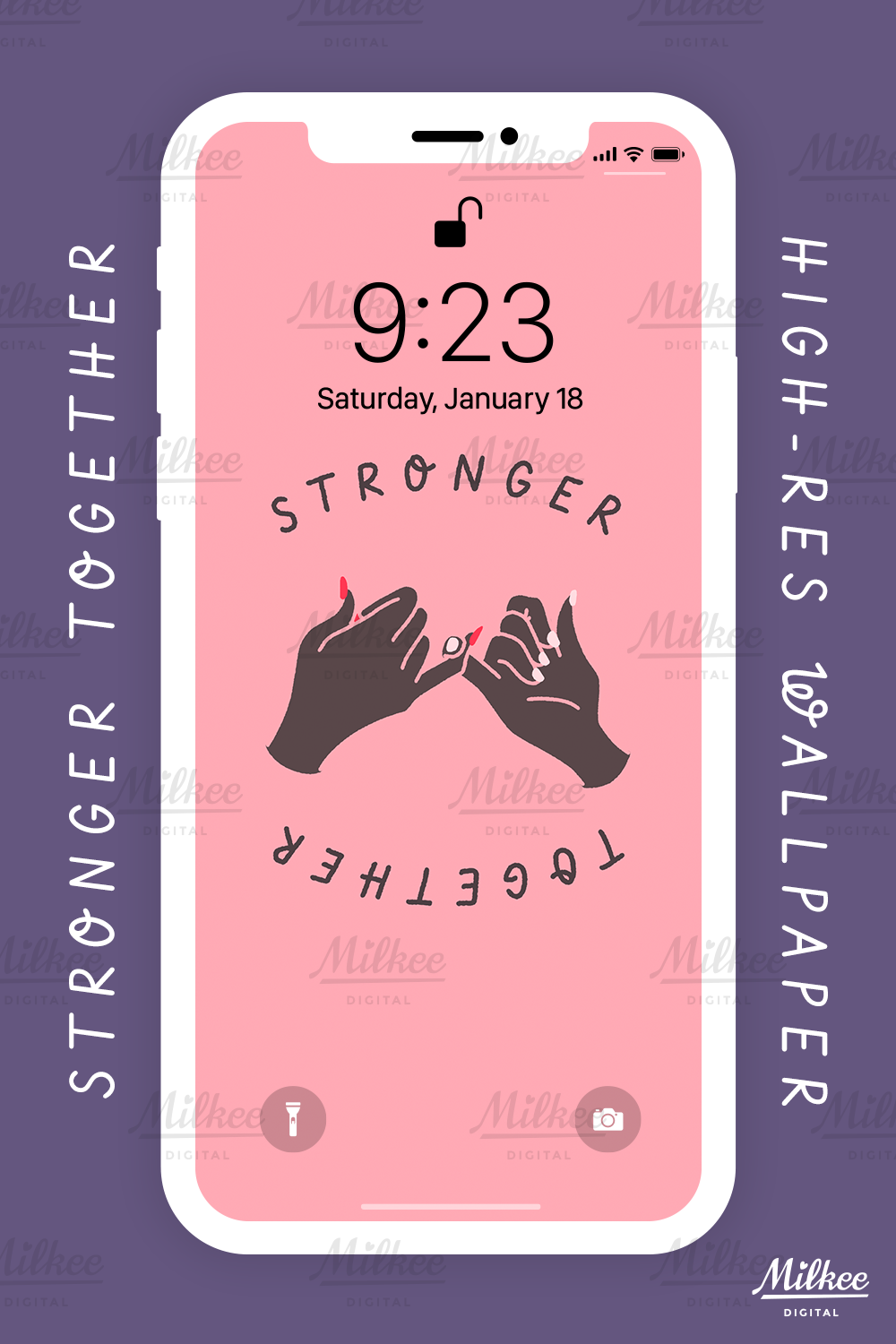 Phone Wallpaper Stronger Together Melanin Ed Affordable Minimalistic Cute Wallpaper For Iphone Samsung Etc Wallpaper Iphone Cute Cute Wallpapers Phone