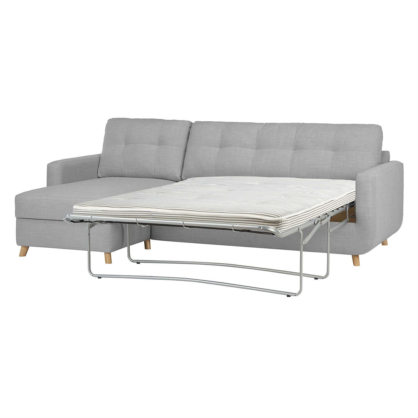 John Lewis & Partners Barbican LHF Chaise Sofa Bed with Storage ...
