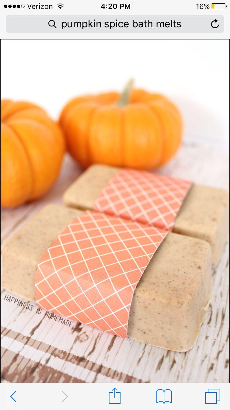 Pumpkin spice bath melts 1 tablespoon wax, 2 tablespoons coconut oil, 4  tablespoons Shea