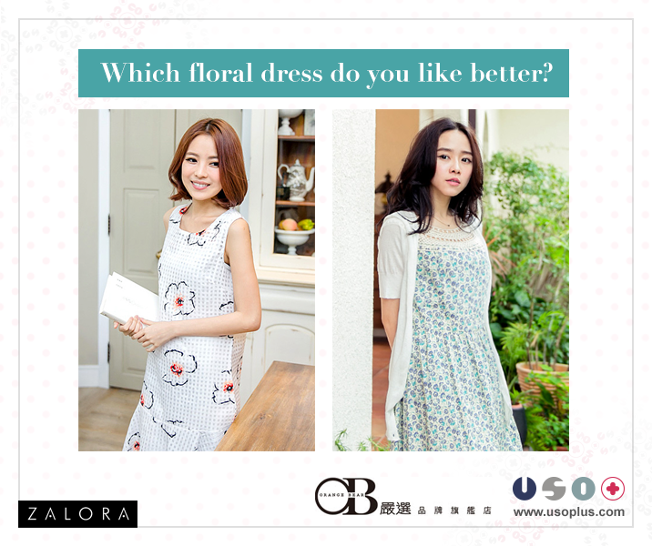 Which floral dress do you like better?   Get both here: http://marketplace.zalora.com.ph/usoplus/  **For inquiries and orders, message us or send an SMS to 09284475784