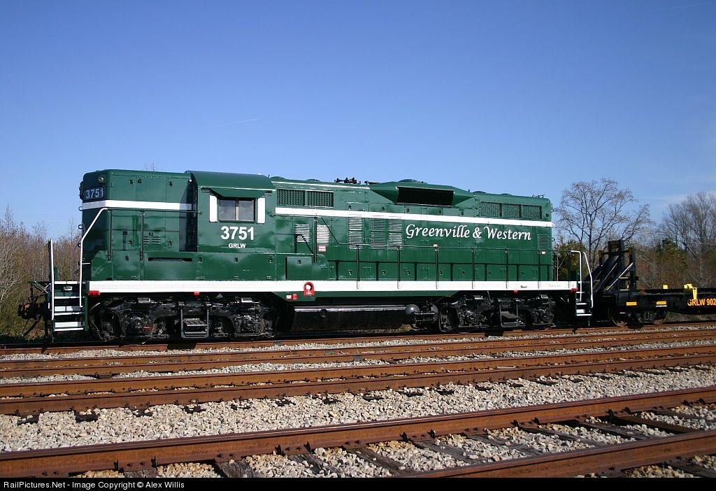 RailPictures.Net Photo: GRLW 3751 Greenville & Western EMD GP9 at Belton, South Carolina by Alex Willis