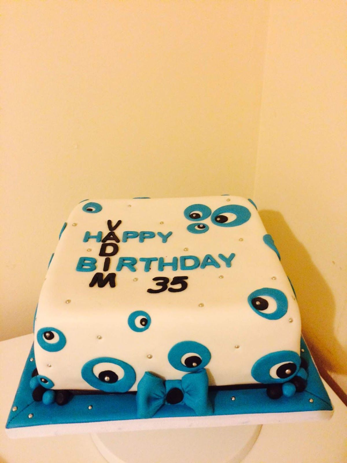 Tis Is A Beautyfull Birthday Cake For 35 Years Old Vadim Made By