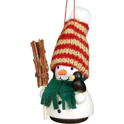 Christian Ulbricht Snowman with Broom Ornament