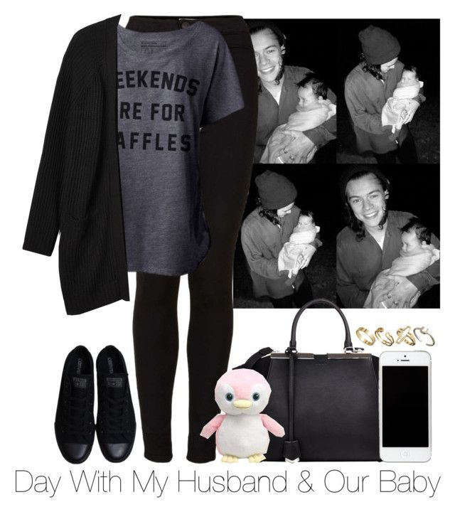 """""""Day With My Husband & Our Baby"""" by storyofmylife1danita-scream ❤ liked on Polyvore featuring Topshop, Monki, Fendi, Converse and Pull&Bear"""