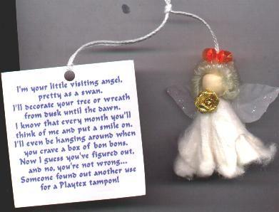 Shell Angel Crafts   fridgie plastic canvas angel angel worry