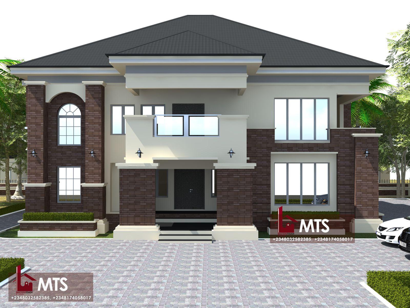 6 Bedroom Duplex Rf D6003 Duplex Design Duplex House Design Bungalow House Design