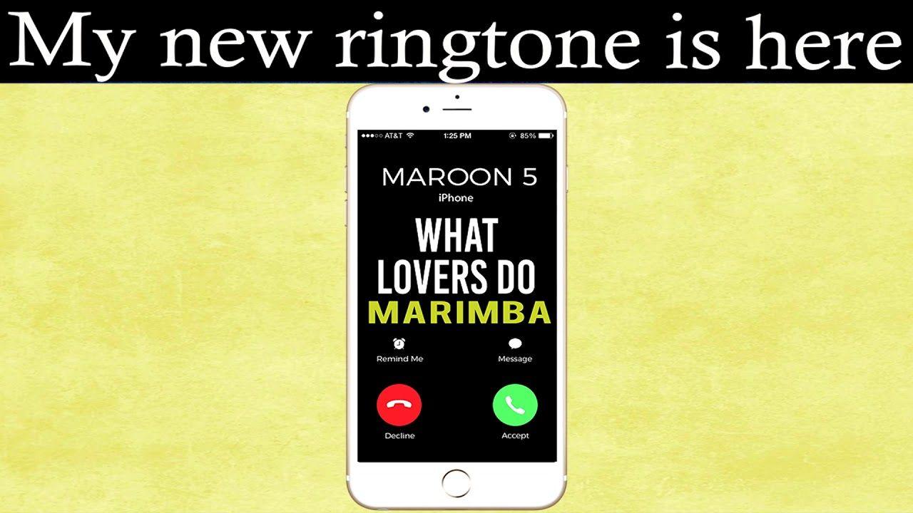 Maroon 5 maps скачать рингтон
