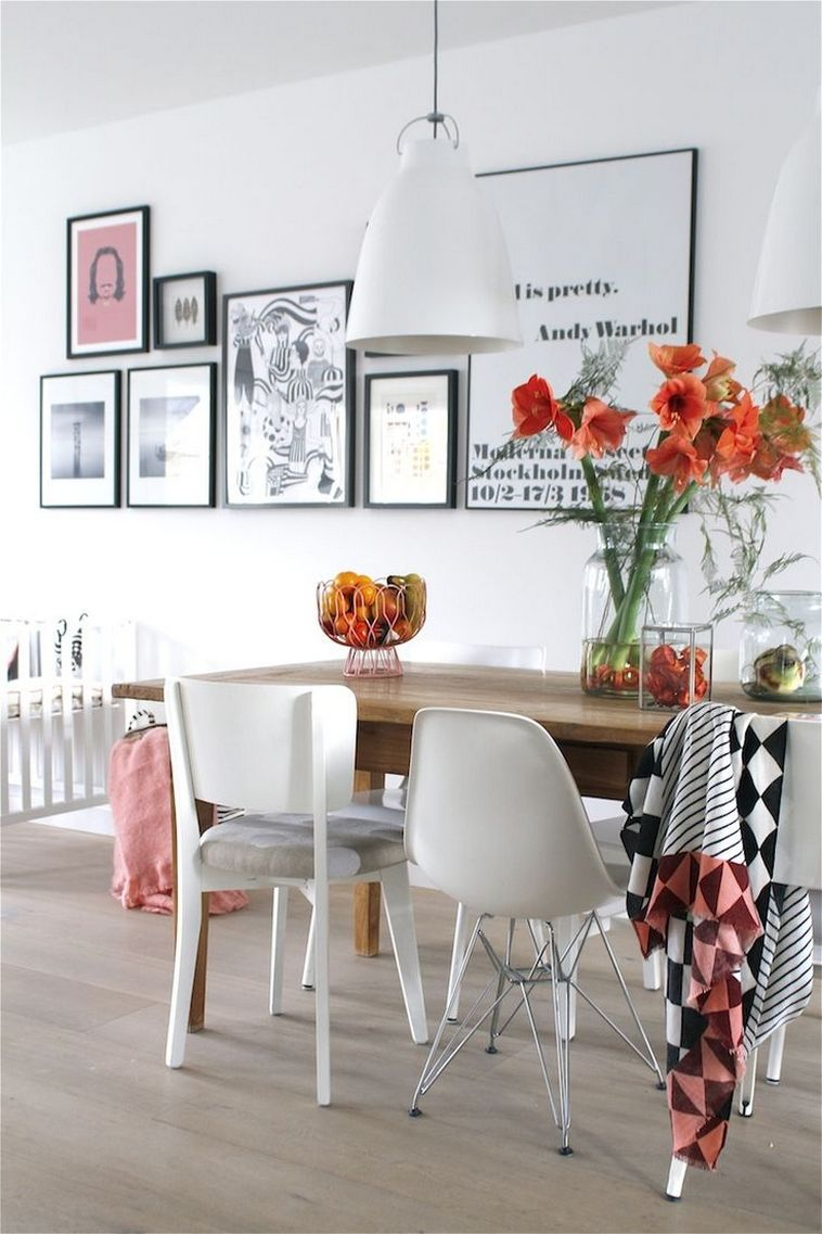 Spring Pastel Dining Chair Modern And Minimalist Style