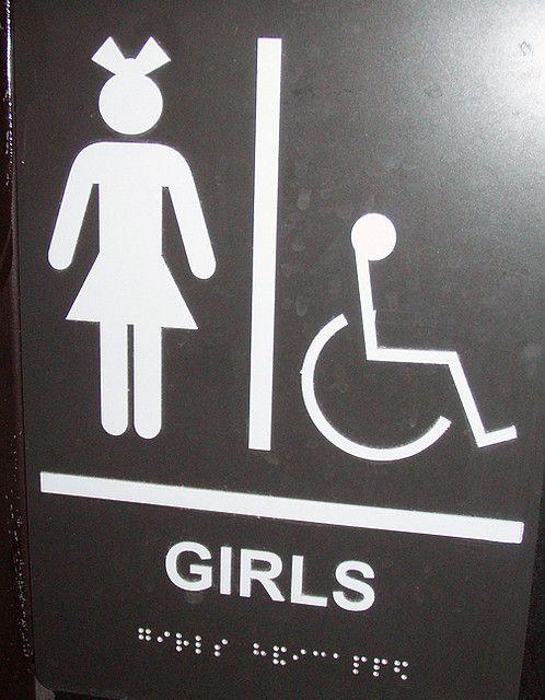 ladies restroom sign signage