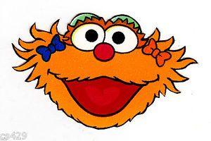 Image Result For Sesame Street Zoe Face Sesame Street Sesame Street Birthday Party Vinyl Art
